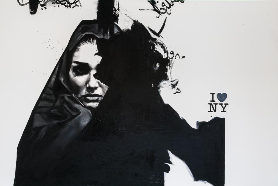'I Love NY', 2012, Oil on Canvas