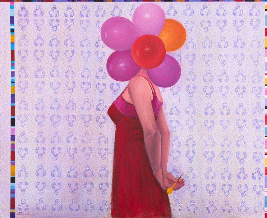 'Balloon', 2012, Mixed Media on Canvas